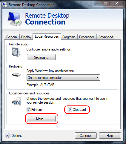 How to transfer files from local computer to Remote Desktop